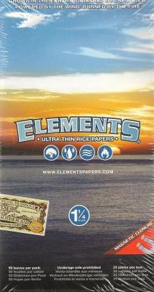 Elements Ultra Thin Rice Papers 1.25 Size
