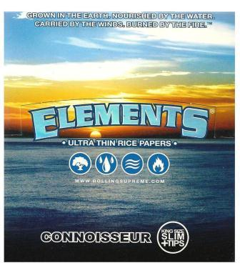 Elements Rice Papers King Size Slim with Tips