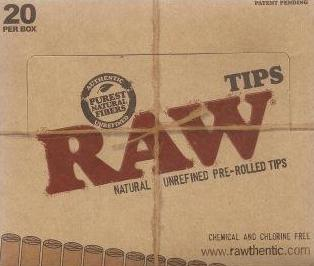 Raw Unbleached Pre Rolled Tips