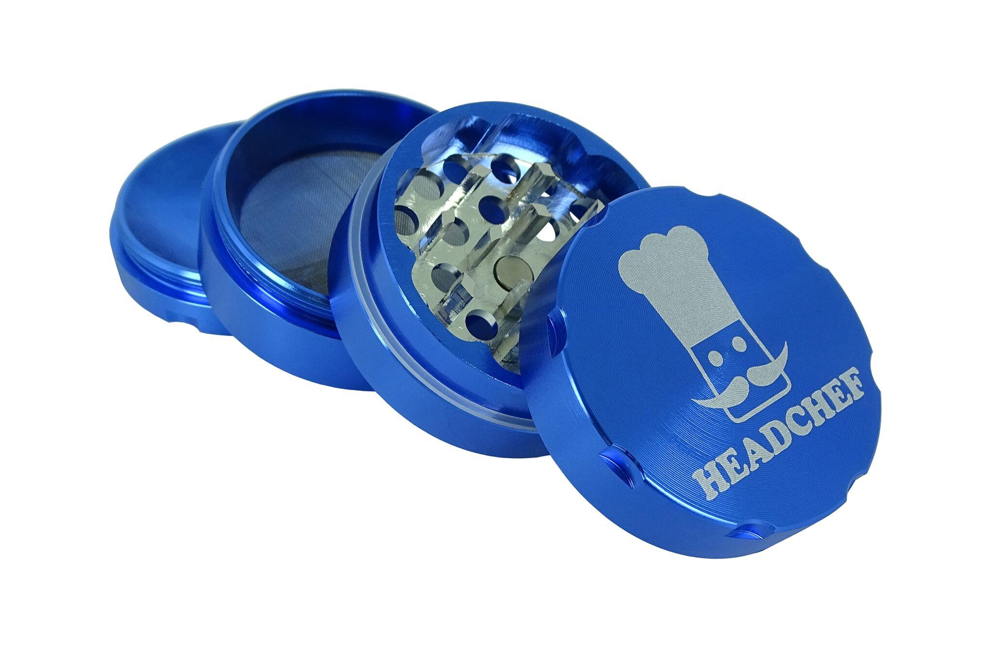 Headchef Grinder 50mm 4 Part - Blue