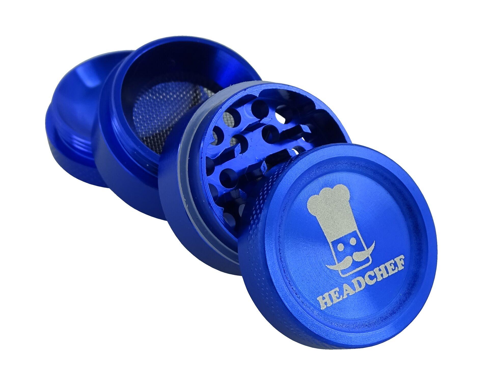 Headchef Grinder 30mm 4 Part - Blue