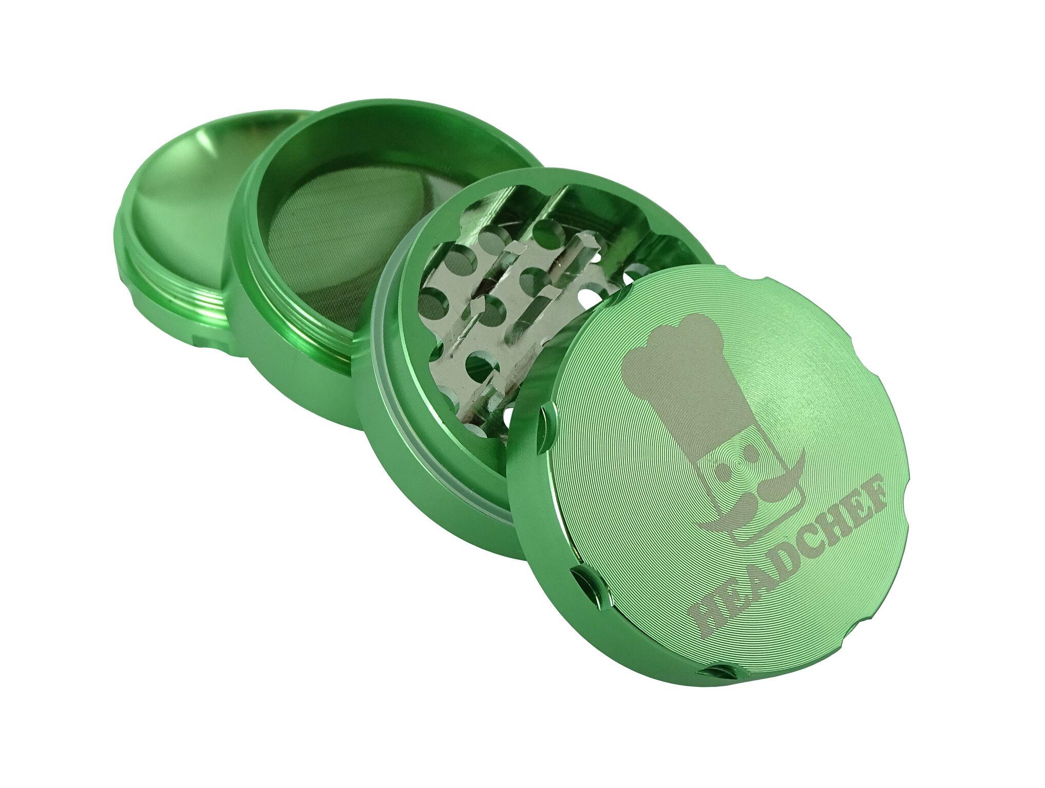 Headchef Grinder 50mm 4 Part - Green