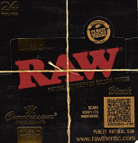 Raw Classic King Size with Tips Black