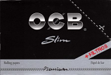 OCB Premium Black King Size Slim with Tips