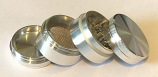 SPF Grinder 40mm 4 Part - Silver