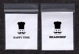 "Headchef - ""Happy Time"" Bags 7cm x 6cm ( 100 Bags )"